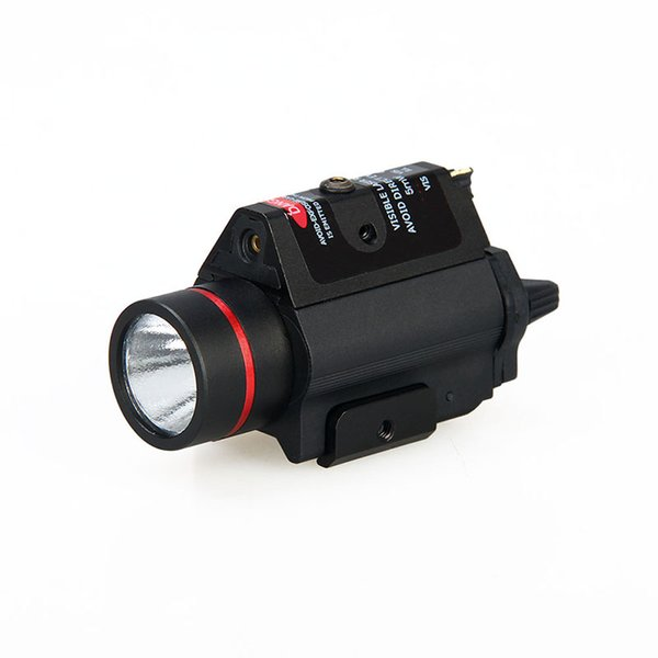 new arrival 3W-H2 aluminum M6R flashlight with red laser lumens 180LM Bulb CREE Q5 FREE SHIPPING CL15-0096