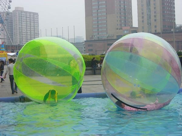 Free Shipping German Zipper 2m Dia 0.8mm PVC Inflatable Zorb Ball Water Walking Ball Walk On Water Inflatable Human Hamster Ball