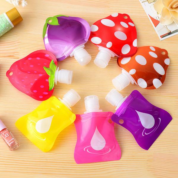 Atacado-1pcs Lovely Travel mini desinfetante para as mãos portátil / Shampoo / garrafa de fluido de Maquiagem produtos de banho garrafas de embalagem Frete grátis