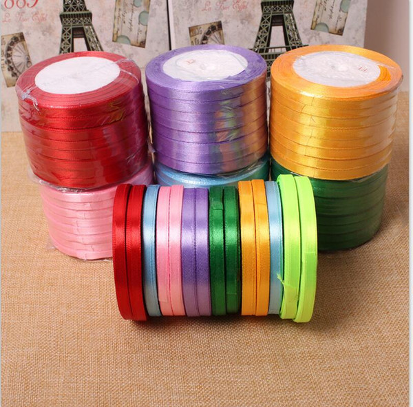 22 Meters A Roll Colored Ribbons With Width 0.6mm Wedding Accessories Cake Gift Box Packaging Ribbons Fashion Wedding Decorations Ribbons