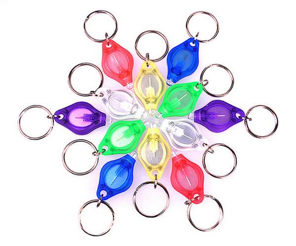 White LED Lights LED Keychain Flashlight Mini Torch Key Chain Key Ring Mini Light LED Bulbs Ton II Photon 2 Micro Light Xmas Gift 7E
