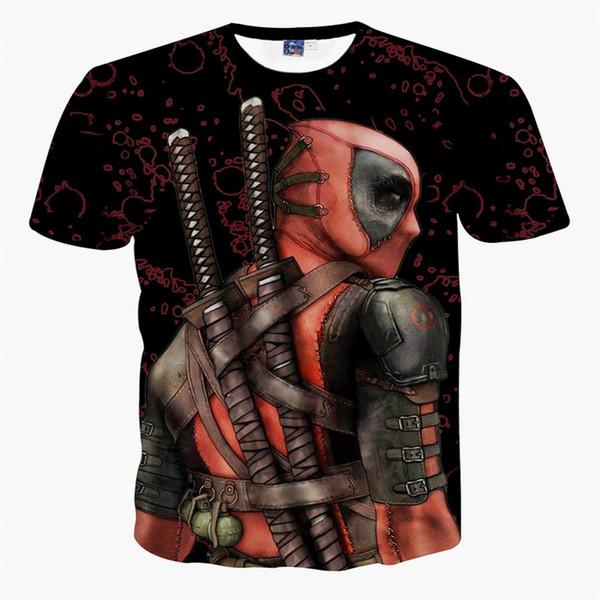 Newest Superhero Deadpool Shirt American Marvel Comic Characters 3D Deadpool T Shirt Funny Casual Tee Shirts Tops