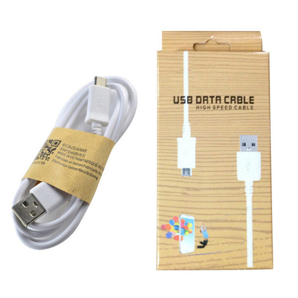 Good quality cheap price 1M Micro USB Cable mini micro V8 1M 3FT Sync data Cable charging cord with retail box for smart cellphone