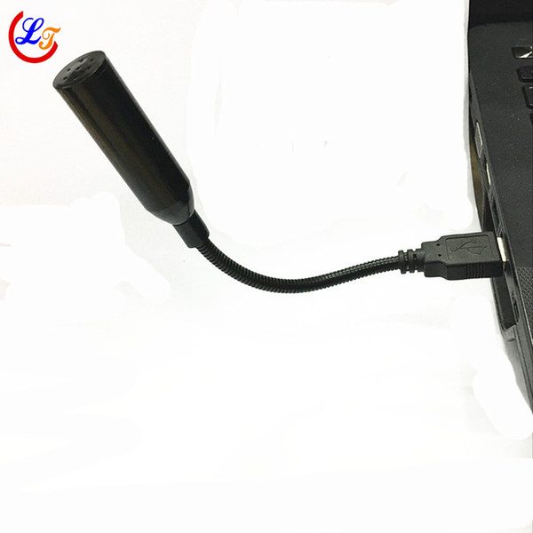 Professional Black Mini Laptop Record Microphone Condenser USB Microfone for Laptop Computer Stand USB Connector 2.0 Jack