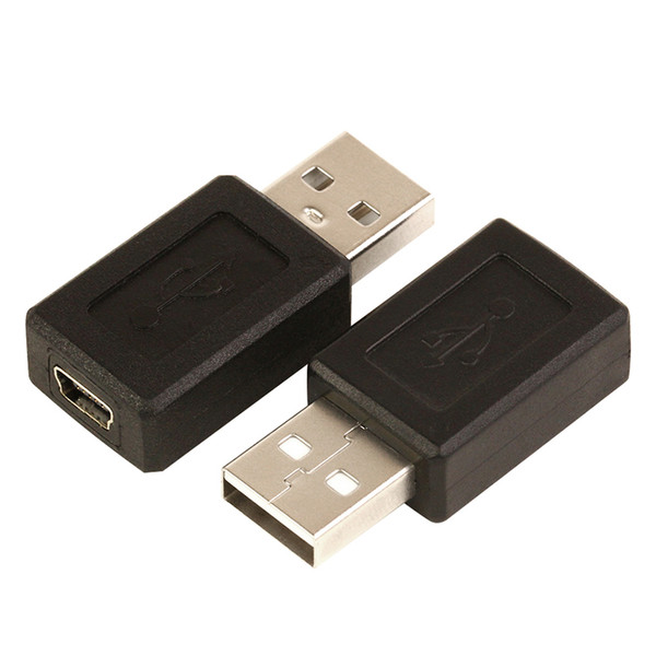 Wholesale 200pcs/lot USB 2.0 A type male to Mini 5pin USB B type 5pin female Connector Adapter convertor