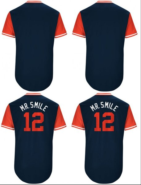 premium selection 27351 53c56 2019 2017 Player Weekend 12 #Francisco Lindor Mr. Smile Navy Coolbase  Baseball Jerseys Custom Name Number From Fanaticsjersey, $20.31 | DHgate.Com