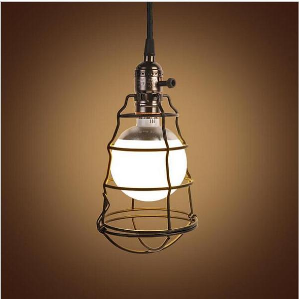 New design Retro Iron Industrial Pendant Ligths Loft Lamps Nordic Ciuntry Style Birdcage LED Pendant Light Hanging Lamp Fixtures E27