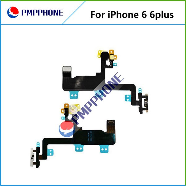 "New Power Switch ON OFF Button Flash Light Mic Flex Cable Ribbon For iPhone 6G 6 Plus 4.7'' 5.5"" Replacement Part"