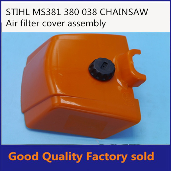 CHAINSAW PARTS AIR FILTER COVER CAP PLASTIC ORANGER PARTS STL STH 038 380 381 MS380 MS381 IN STROKE FREE SHIPPING PT381-15