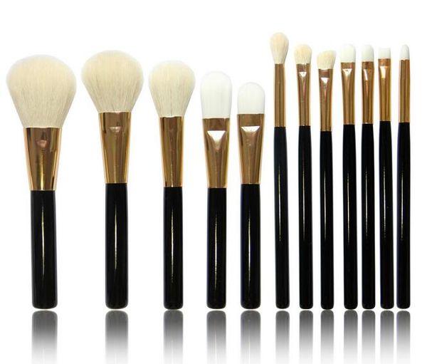12pcs Makeup Brushes Set Powder Foundation Blusher Concealer Brushes Goat Hair Eyebrow Eye Brow Lipsticks Beauty Tools DHL