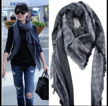 2019 G scarf Silk Wool Wrap Shawl Pashmina Scarf
