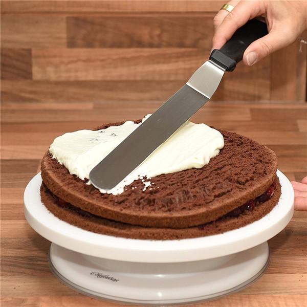 3 Pçs / set Manteiga De Aço Inoxidável Creme Faca Bolo Espátula Smoother Glacê Geada Spreader Fondant Pastelaria Decoração Ferramenta de Cozinha