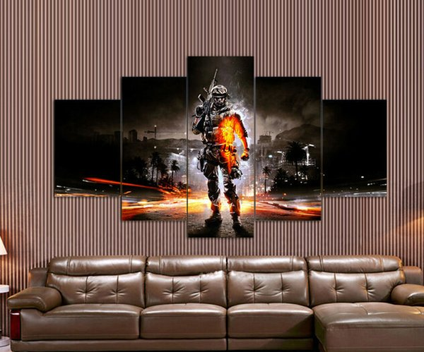 battlefield painting for living room decoration pictures print on
