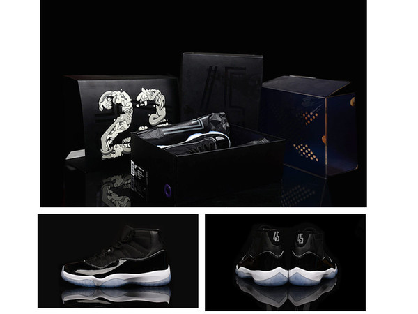 New 11s leather Space Jam Outdoor sports athletic trainer 11 mens basketball shoes sneaker black blue white for women