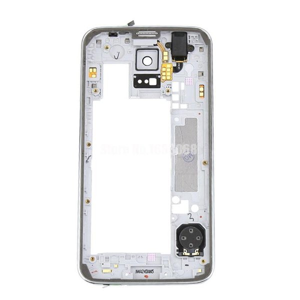 For Samsung Galaxy S5 G900 G900F G900A G900V Mid Middle Frame Plate Bezel Housing Cover Silver Gold Tracking NO.