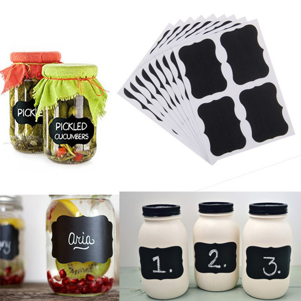 top popular Blackboard Sticker Chalk Pen Chalkboard Stickers Labels Vinyl Kitchen Jam Jar Wall Cup Bottle Planner Mirror Decor Decals Tags 5cm x 3.5cm 2021
