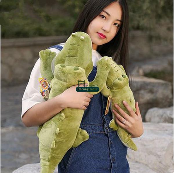 Dorimytrader 45cm Stuffed Soft Plush Crocodile Toy Green Alligator Baby Doll Free Shipping DY61050