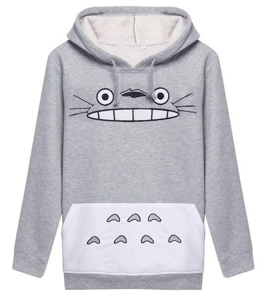 Raisevern 3D Dickes Sweatshirt Harajuku Cartoon Totoro Tier katze Drucken Frauen Cosplay Anzug Hoodie Frühling Herbst Außerhalb Kleidung baumwolle tops