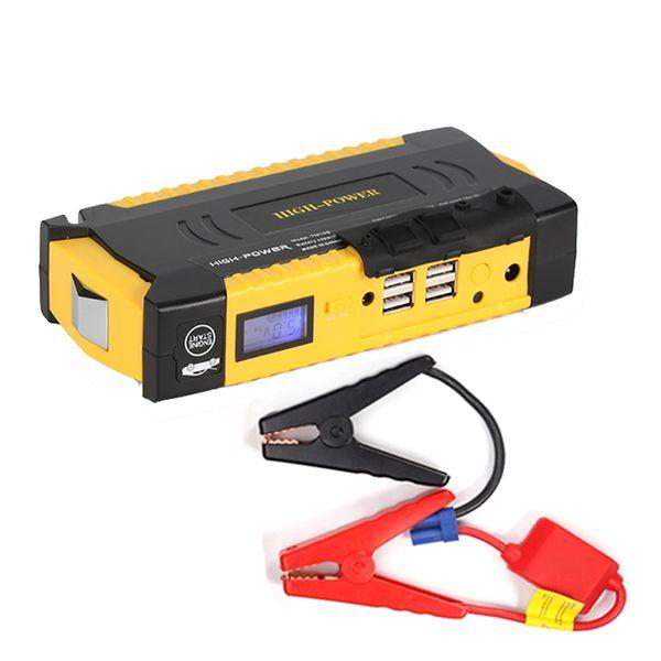 새로운 고용량 69800mAh 자동차 점프 스타터 가솔린 디젤 4 USB 오토 파워 뱅크 자동차 부스터 스타트 점퍼