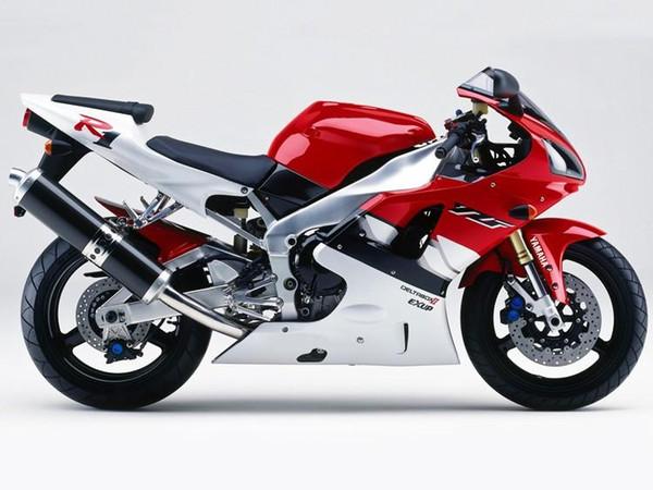 Carenados completos para Yamaha YZF1000 YZF R1 98 99 YZF-R1 1998 1999 Motocicleta ABS Marcos de plástico del cuerpo Accesorios ornamentales blanco rojo