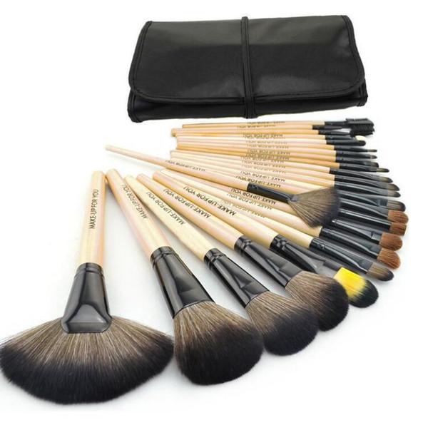 24pcs / set pennelli trucco pennello cosmetico kit pennelli trucco professionale, hanno 3 colori scegliere