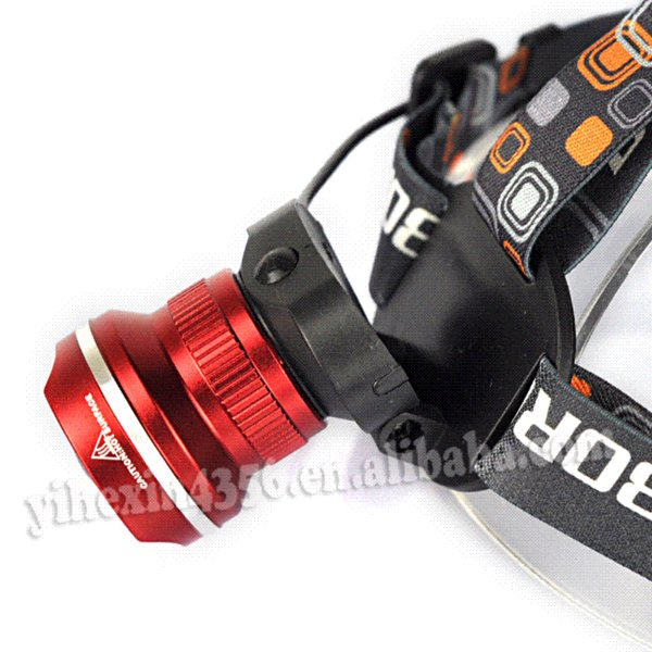 18650 Lanterna XM-L T6 2000 Lumens LED Headlights Lamp Headlamp Bicycle Head Light 3 Modes Rechargeable/Zoomable+Charger+18650