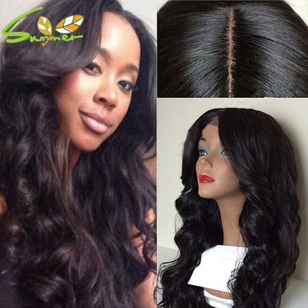 Middle Part Cheap Silk Base Body Wave Full Lace Wig 180 Density Human Hair Lace Front Wig Glueless Lace Wig Baby Hair