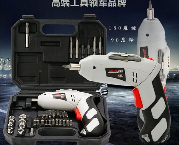 Yiday 45PCS Household Cordless Reversible Rechargeable Drill Bit 4.8V Electric Screwdriver Power Driver Tool