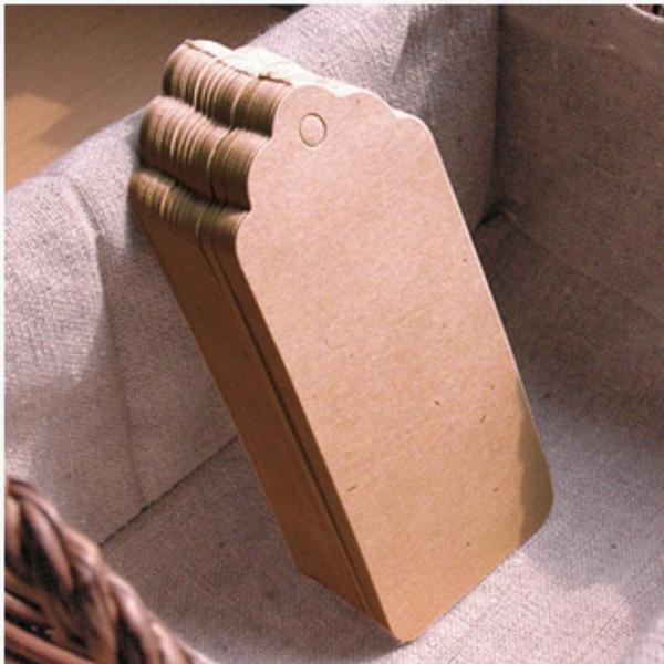 top popular Wholesale Blank price tag Kraft paper Gift tag DIY brown paper Kraft label paper TAGGING WA1383 2021