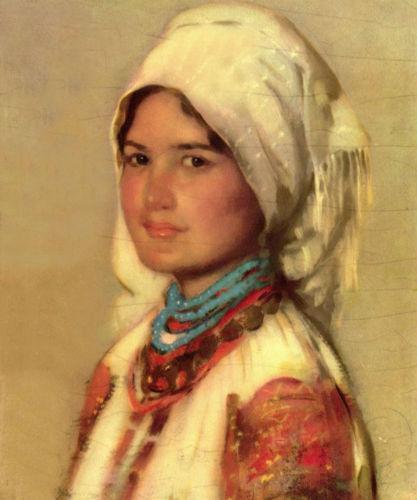 Enmarcado Bauerin aus Muscel después de Nicolae Grigorescu rumano, retratos de artesanía pura arte pintura al óleo sobre lienzo tamaños múltiples, envío gratis