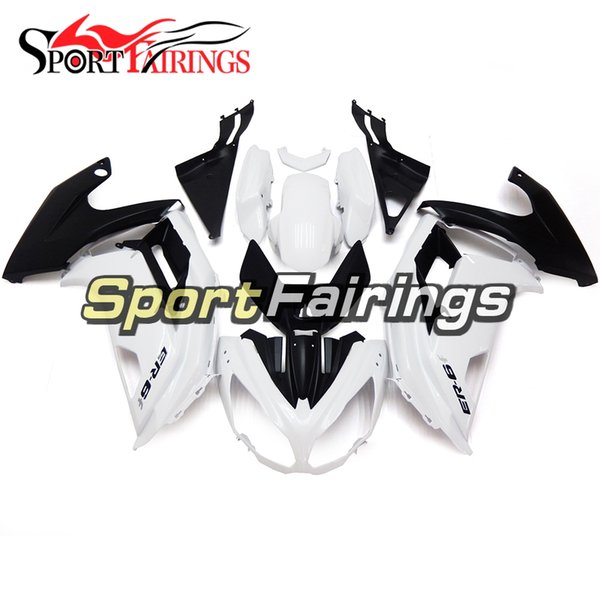 Full Fairings For Kawasaki ER-6f Ninja 650 12 13 14 15 ER6f 2012 - 2015 ABS Plastic Motorcycle Fairing Kit Body Pearl White Matte Black