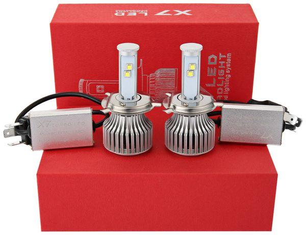 2 teile / los Auto Nebelscheinwerfer Weiß Led Automotive Scheinwerfer H4 6000 Karat X7 Led-scheinwerfer Lampen All-in-one Conversion Kit Auto Scheinwerfer