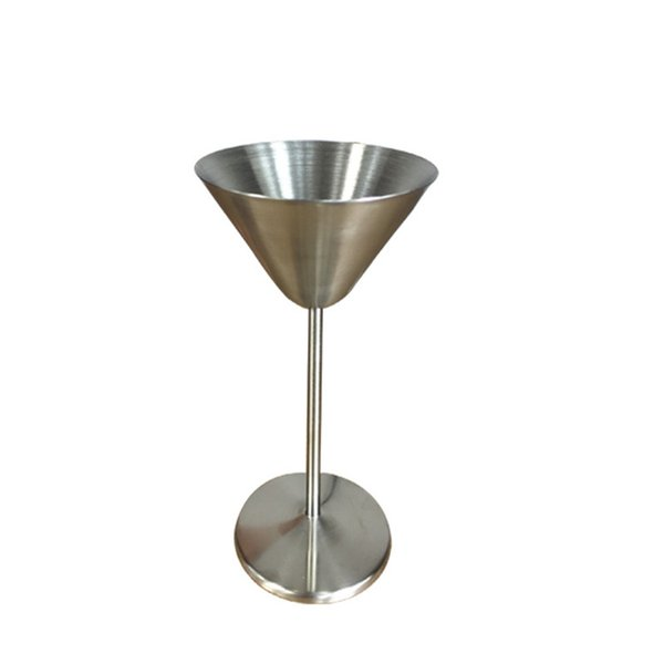 Top Choice 8oz Stainless Steel 304 Martini Cup Brushed Polish Martini Cocktail Cup for Wedding Party