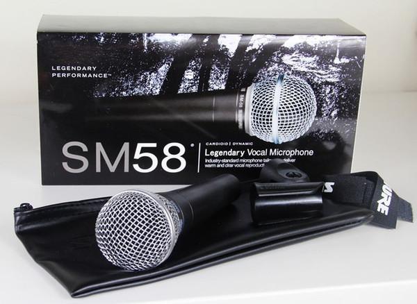 Neue Qualität SM 58 58LC SM58LC freier Ton verdrahtetes Karaoke-Handmikrofon Freeshipping