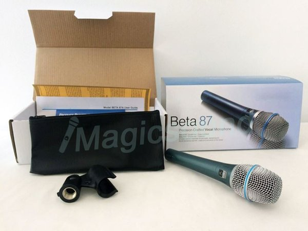 Free Shipping !! Wholesale 6PCS Professional Beta87A Supercardioid Vocal Microphone Beta 87A Mike With Bright Clear Sound