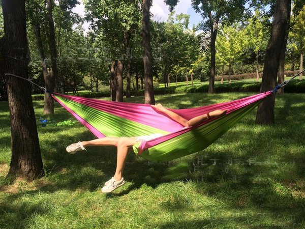1 2 person outdoor camping hammock parachute travel outdoor soft swing garden indoor sleeping hammock 1 2 person outdoor camping hammock parachute travel outdoor soft      rh   m dhgate