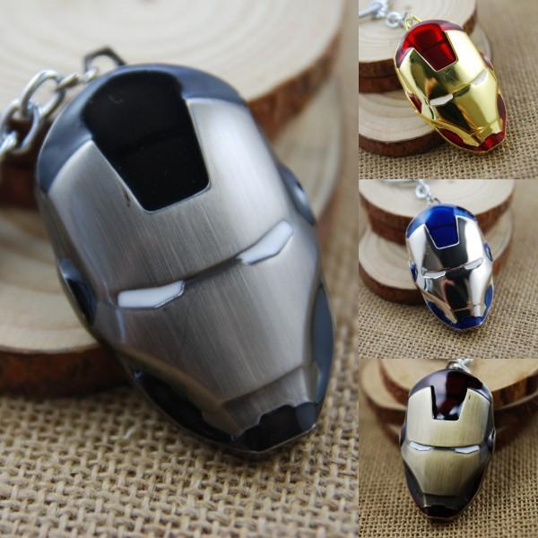 Free DHL 4 Color Iron Man Mask Zinc Alloy EDC Key Chain Metal Keychain Action Figure Movie Toy Pendant Keyring K19E