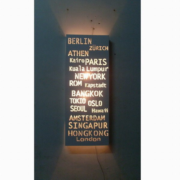 CE ROHS/modern fashion Look Nordic style of white wall lamp PARIS Destination Sign Banner Hardware Bus Roll subway transit light