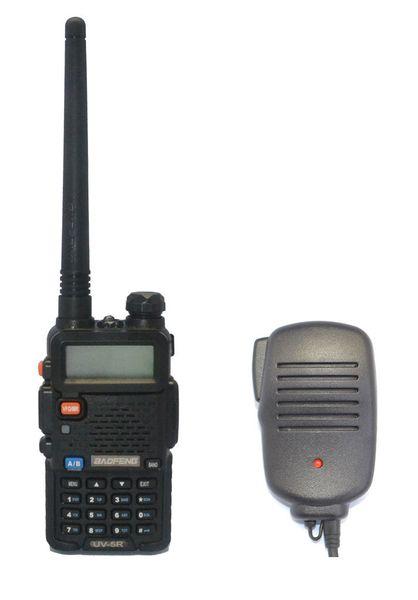Al por mayor-Radio establece BAOFENG UV-5R VHF / UHF banda dual portátil jamón dos vías Radio walkie talkie amateur + 2pin altavoz MIC + envío gratuito