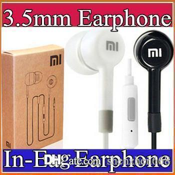 2016 3.5mm Smart Phones Earphone xiaomi In-Ear Earphone headphone With Mic and Remote headphone white black with retail box I-EM