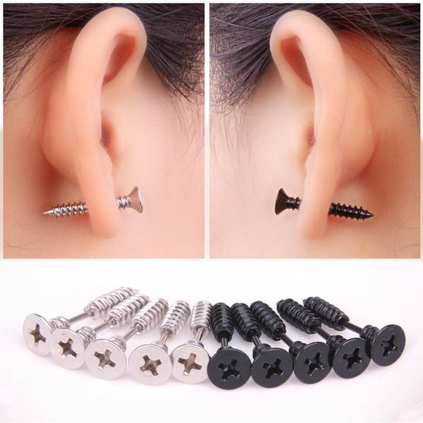 best selling Design Jewelry Wholesale 2016 Gold Plated Beads Mini Stud Earrings Screws Crystal Stud Earrings For Women New Design Earrings