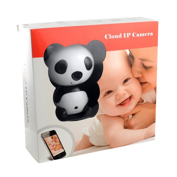 HD 1280 X 720P Wireless Video Baby Monitor Night Vision Cute Panda Cloud Network IP Camera with Two-way Intercom Wide Angle Lens