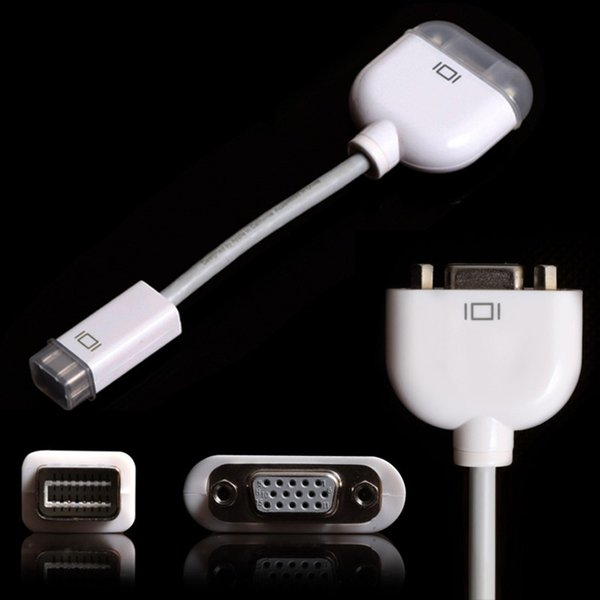 Wholesale low price 50pcs/lot DHL/FEDEX FREE Mini DVI to VGA Cable Adapter for Apple Macbook Pro Air