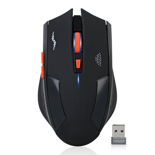 Wholesale- nachladbare drahtlose Maus 2400DPI USB-2.4G Laser Gaming Mouse Stille eingebaute Lithium-Batterie für Laptop-Computer Gamer-Maus