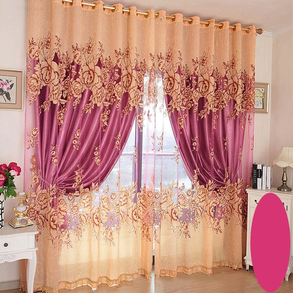 2019 Luxury Living Room Blackout Curtains Bedroom Drapes Curtains And  Blinds Window Curtains Embroidered Peony Printing Pattern Curtain Sets From  ...