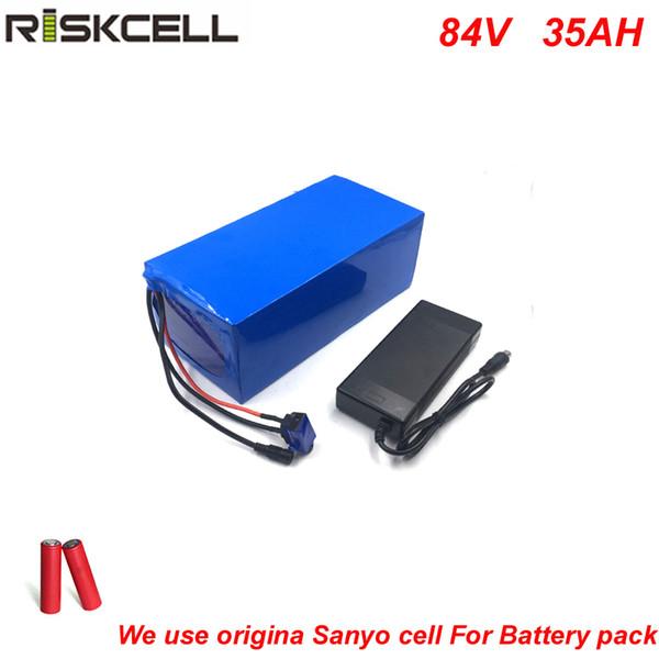 Sem impostos DIY Super Power 84V 4000w e-scooter de bateria de íon de 84V bateria 35AH lítio com 96.6V 5A carregador para celular Sanyo