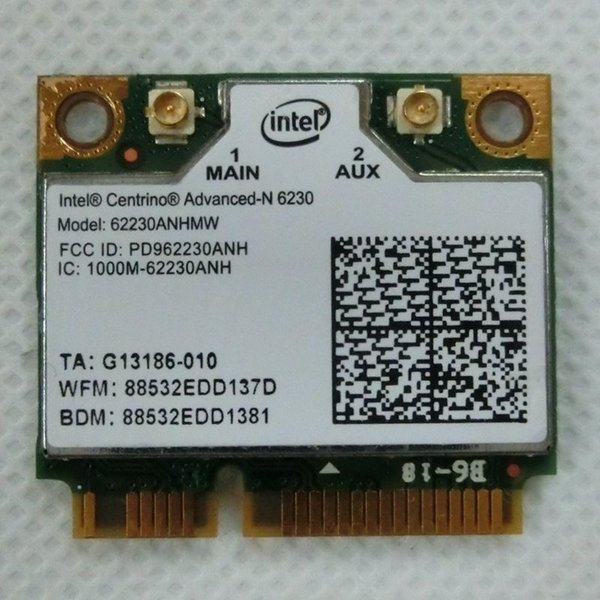 Wholesale- Original New Half Mini PCI-E card intel 6230 62230ANHMW wireless express wlan network Wi-fi for laptop