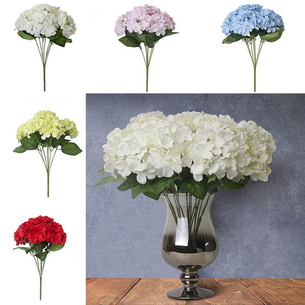 7 Farbe Künstliche Blumen Hortensien Blume Schmücken Blume Hochzeit Garten Markt Party Dekoration Weihnachtsgeschenk WX9-68