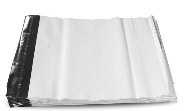 Free shipping 35*45 cm poly mailer mailing bags express bags courier bags express envelope Plastic Mailers Bag 100PCS/bag white