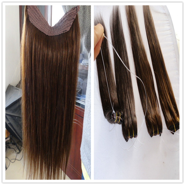 Halo Hair Extension Real Russian Natural Hair Flip In Human Hair